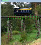橋梁の歪みを計測