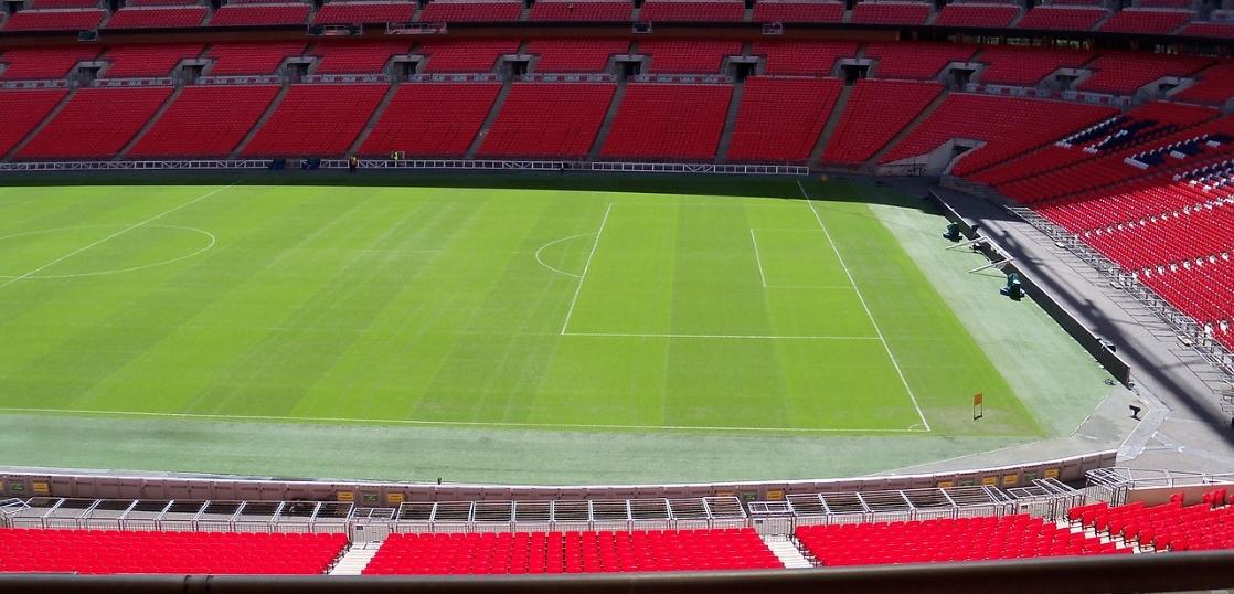 サッカーコートの面積計測イメージ画像