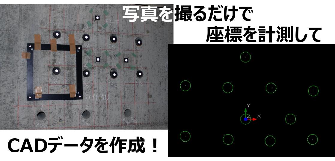 耐震補強プレートの写真計測