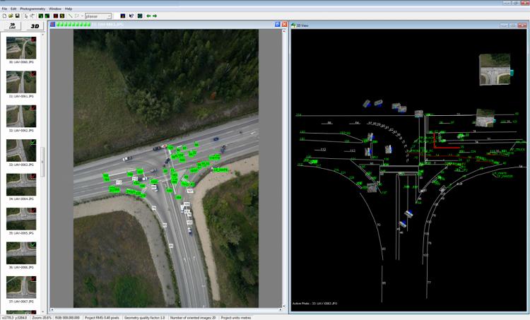 交通事故の状況を3D計測