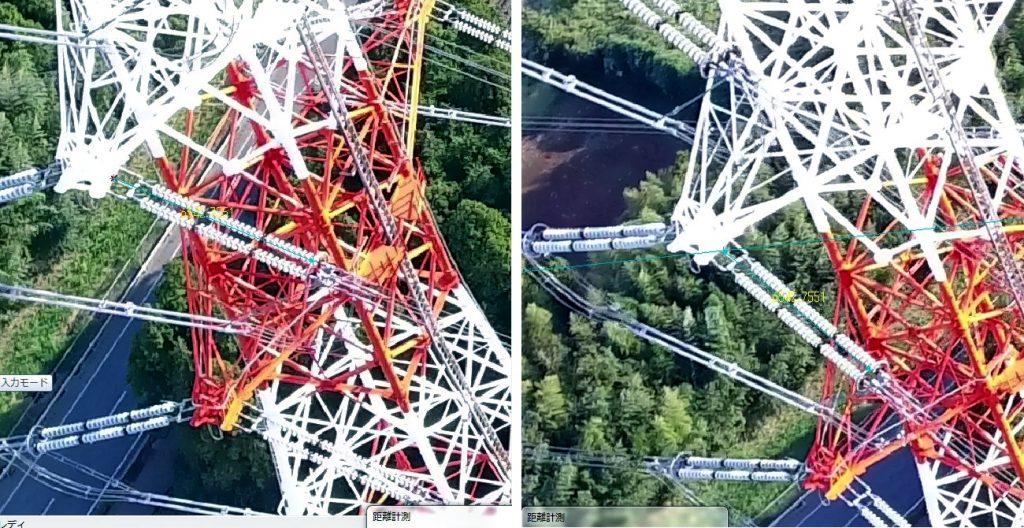 鉄塔の距離計測(碍子)