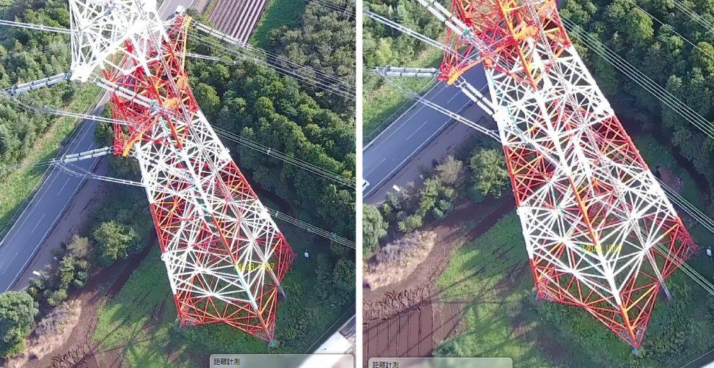 鉄塔の距離計測(高さ)
