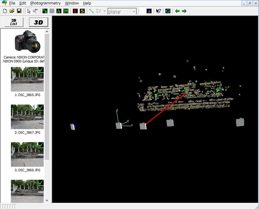 写真計測ソフトiWitnessPROによる処理