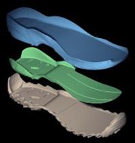 靴のデザインモデル作成