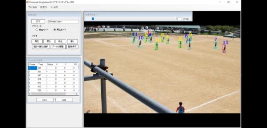 SingleView3Dビデオトラッキングの画面イメージ